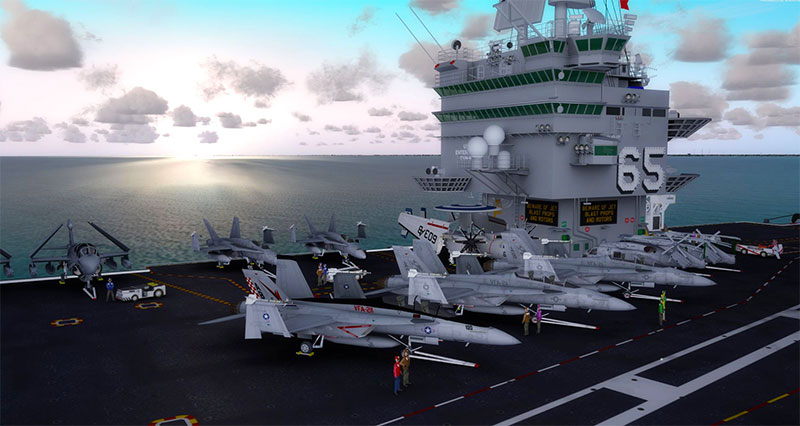 The USS Enterprise displayed in P3D.