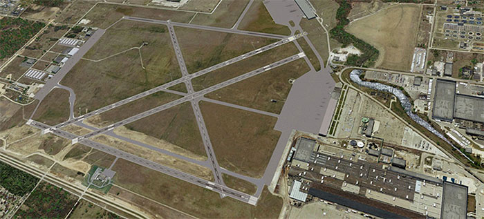 Airport ground textures