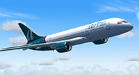 Air Tran 787 in flight in FS2004.