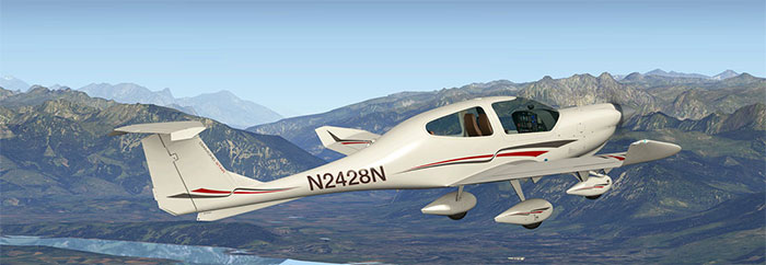 Alabeo's DA40 in X-Plane 10