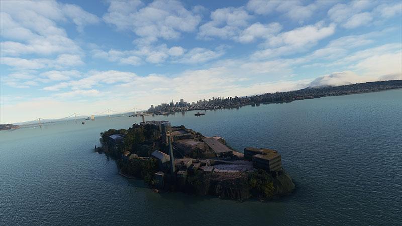 Alcatraz Island in MSFS.