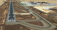 Alicante airport and runway.