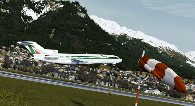 Alitalia Boeing 727 taking-off in P3Dv5.