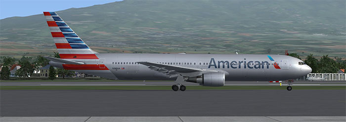 American Airlines Boeing 767 in FSX