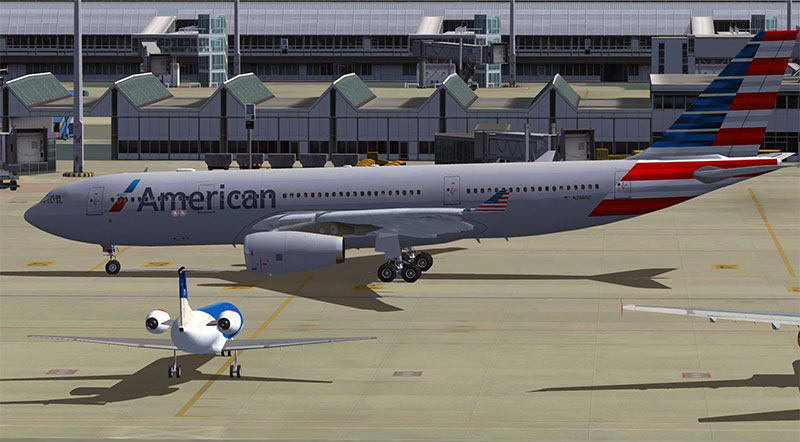 American Airlines A330 taxiing.