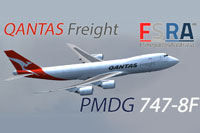 Screenshot of Qantas Freight Boeing 747-8F.