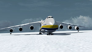 Antonov An-225 parked on snow in Alaska in P3Dv5.