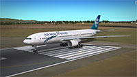 Air New Zealand 777 on runway