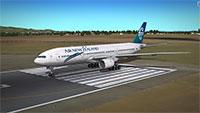 Air New Zealand 777 on runway