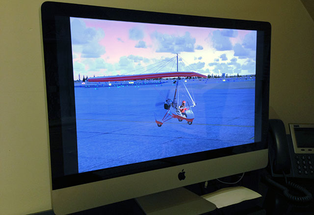 Apple iMac running FSX