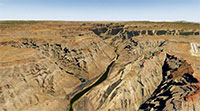 Screenshot showing the Arizona photoreal scenery in X-Plane 11.