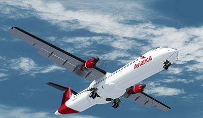 ATR 72-500 Avianca in P3Dv5.