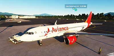 Avianca Costa Rica A320 in MSFS (2020).