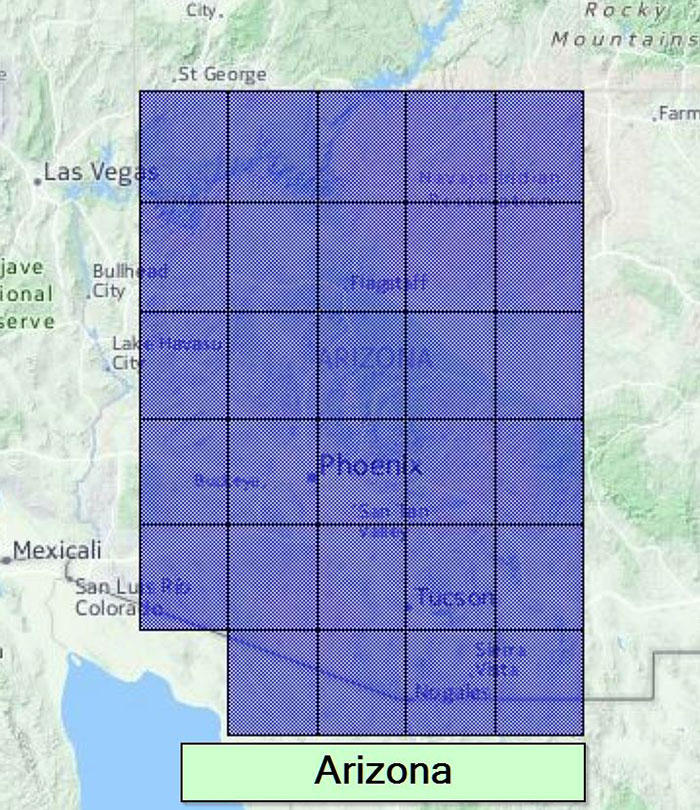 Arizona coverage area.