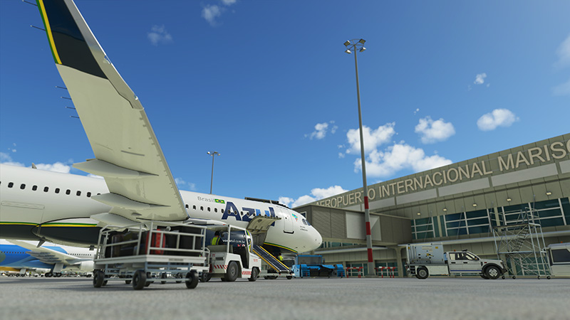 An Azul A320 livery/mod in MSFS2020.