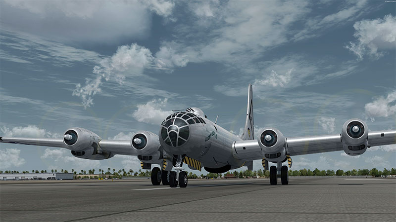 Boeing B-50 on ramp.