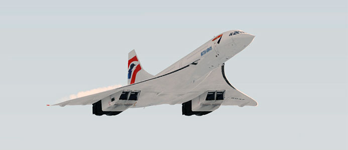 BA Concorde in flight