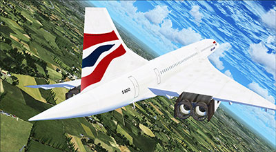 BA Concorde out of Heathrow in FSX.