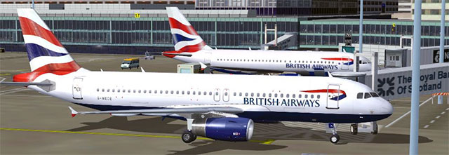 British Airways fleet at gate