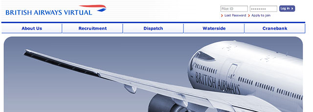 British Airways Virtual website