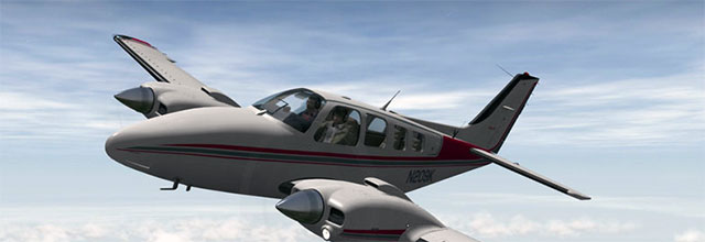 Baron 58 in X-Plane