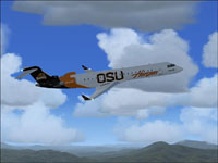 Screenshot of N690QX Beavers jet in flight.