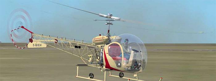 Bell 47 on skids