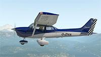 Cessna Skyhawk midflight.
