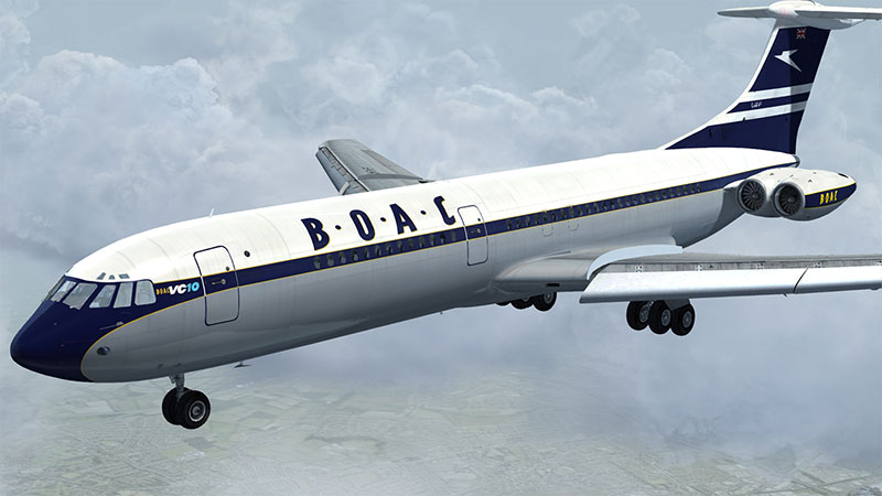 BOAC VC10 on final landing approach.