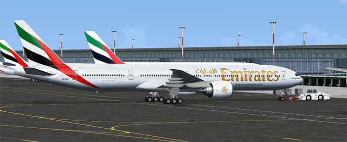 Emirates Boeing 777 in FSX