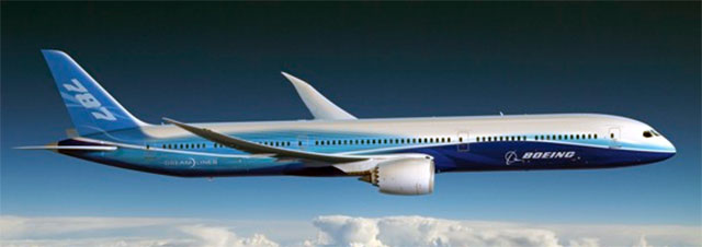 Artist impression of a stretched Boeing 787-10