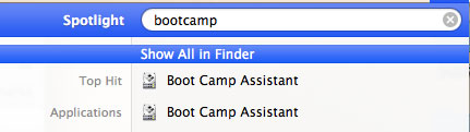 Bootcamp search results