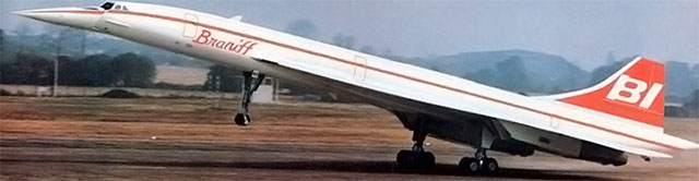 The Braniff Branded Concorde.