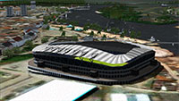 Demonstration of a stadium using the scenery in FSX.