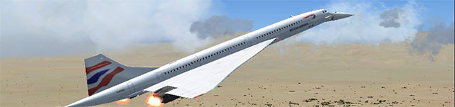 Eric Buchmann's FS France Concorde in British Airways paint.