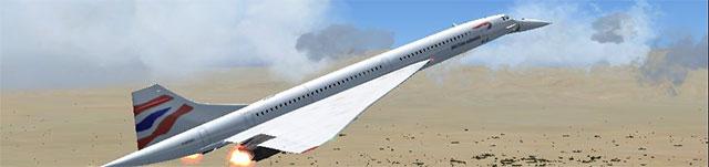 Eric Buchmann's FS France Concorde in British Airways paint.