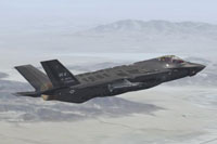 Screenshot of US Air Force F-35A USAF WA in flight.