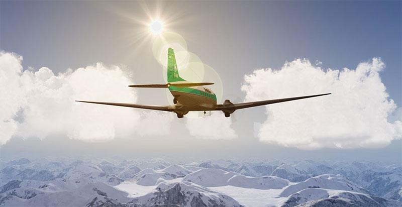 Buffalo Cargo over mountains