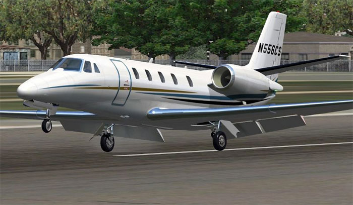 Cessna 56X taking off.
