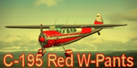 Thumbnail of a red C-195 in flight.