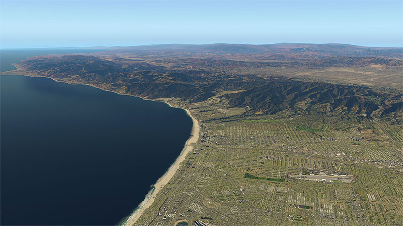California coastline demonstration.