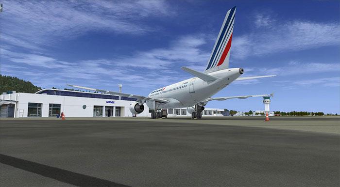 Aircraft on ramp