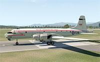 Canadair CL-28 Argus on runway.