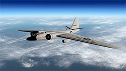 RB-57F Canberra in flight.