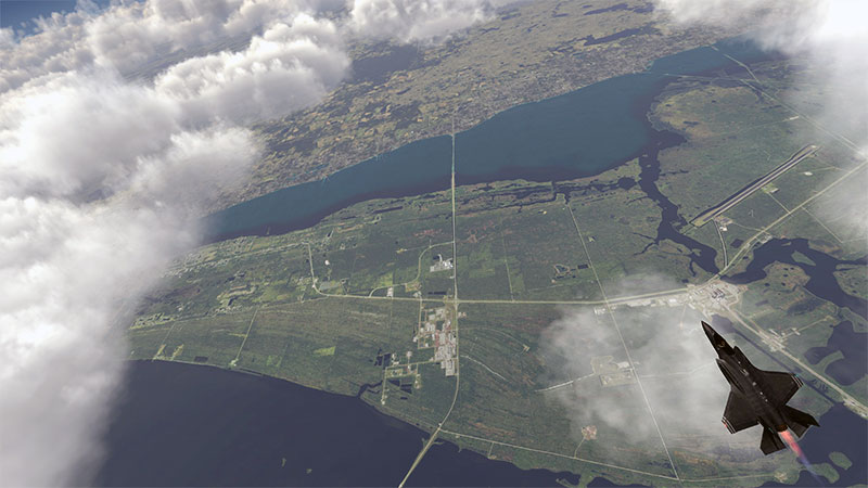 Aircraft over Cape Canaveral in v5.
