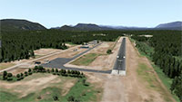 Aerial view of the runway.