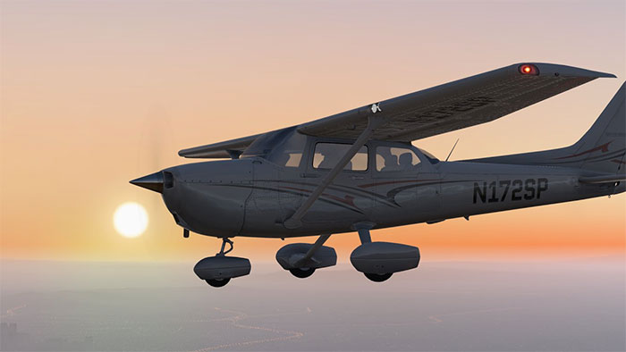 Default Cessna with sunset in background.