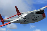 Screenshot of Fairchild C-82 in flight.