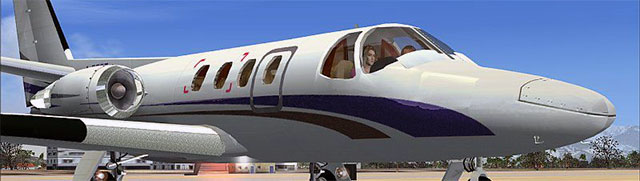 Alejandro's Cessna Citation 500 on taxiway.