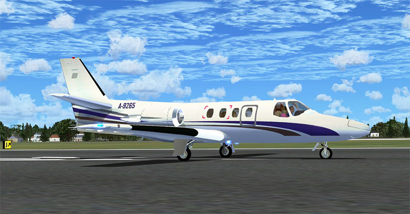 Alejandro's Cessna Citation 500 on runway.
